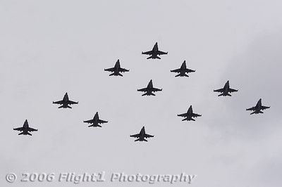 CVW 8 is more than Tomcats, first the F/A-18C Hornets of VFA-15 - the Valions - came home