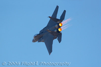 The Strike Eagle Demo uses a lot of afterburner when in front of the crowd