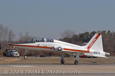 T-38 Talon touches down