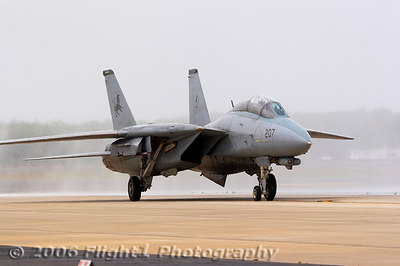The Tomcat taxis to its new home