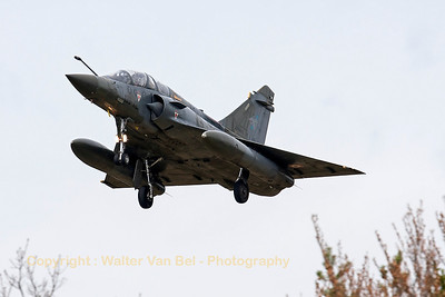 "A French Air Force Mirage 2000D (133-XL; 603; cn394), on final for RWY20 at LFSO, during exercise ""Green Shield 2014""."