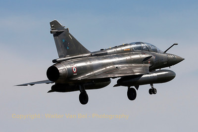 "A French Air Force Mirage 2000D (133-XC; 618; cn417), on final for RWY20 at LFSO, during exercise ""Green Shield 2014""."
