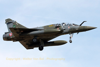"A French Air Force Mirage 2000D (133-XY; 649; cn465), on final for RWY20 at LFSO, during exercise ""Green Shield 2014""."