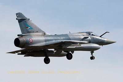A French Air Force Mirage 2000-5F (116-FZ; 41; cn197), on final for RWY20 at LFSO, during exercise Green Shield.