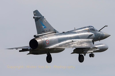 "A French Air Force Mirage 2000-5F (116-EJ; 43; cn202), on final for RWY20 at LFSO, during exercise ""Green Shield""."
