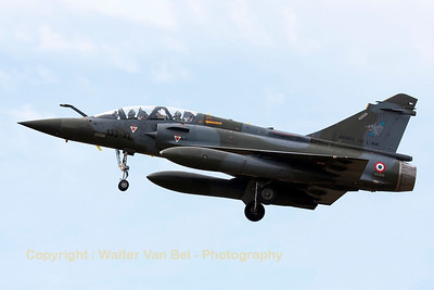 A French Air Force Mirage 2000D (133-XL; 603; cn394), on final for RWY20 at LFSO, during exercise Green Shield.