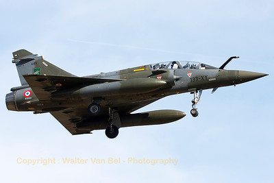 "A French Air Force Mirage 2000D (133-XY; 649; cn465), on final for RWY20 at LFSO, during exercise ""Green Shield 2014"". [re-edit]"
