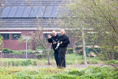 My friends - Peter & Rien - in action, waiting for the arrivals of FF2014, at Leeuwarden Air Base (EHLW).