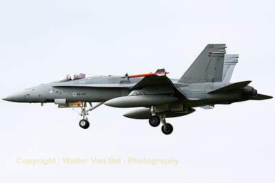 A Finnish Air Force F-18C from HävLLv31 (HN-426; cn1425/FNC026), photographed during a landing (RWY23) at Leeuwarden Air Base (FF2014).