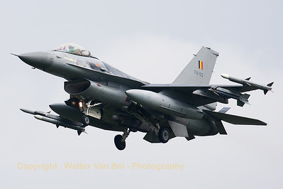 A Belgian Air Force F-16AM (FA-133; cn6H-133), on final for RWY23 at Leeuwarden Air Base, after a sortie during FF2014.