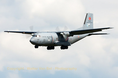 Turkish Air Force C-160D (69-029; cnD29) from 221Filo, on final during the Nato Tiger Meet 2014 at Schleswig-Jagel AFB. It's obvious when the support aircraft start to arrive, that the NTM2014 is nearing its final stage...