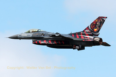 Turkish Air Force F-16CJ (94-0090; cnHC-54) from 192Filo, on take-off for another mission during the Nato Tiger Meet 2014 at Schleswig-Jagel AFB.