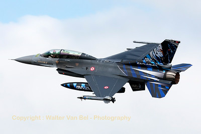 Turkish Air Force F-16DJ (93-0691; cnHD-1) from 192Filo, on take-off for another mission during the Nato Tiger Meet 2014 at Schleswig-Jagel AFB.