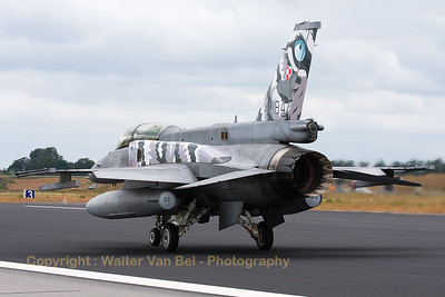 A Polish Air Force F-16D-52 (4084; cnJD-9) on the taxitrack, showing its special c/s for the NTM2014, at Schleswig-Jagel Air Base.