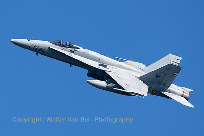 A Spanish Air Force EF-18M Hornet (C.15-66; 12-24; cn0894/A588), seen here during take-off from RWY23 at Leeuwarden AFB, at the start of a mission during FF2015.