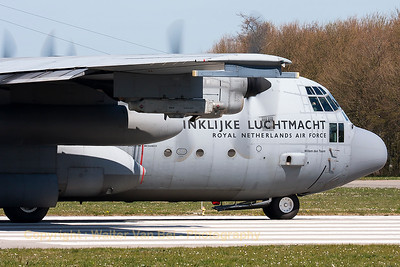 """Willem den Toom"", a Royal Netherlands Air Force C-130H (G-988; cn382-4988), is ready for take-off from RWY09 at Leeuwarden Air Base, acting as ""slow-mover"" during another FF2015 mission."