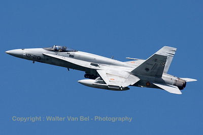 A Spanish Air Force EF-18A Hornet (C.15-62; 12-20; cn0857/A584), seen here during take-off from RWY23 at Leeuwarden AFB, at the start of a mission during FF2015.