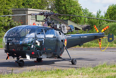 Aerospatiale SA-316B Alouette III (M-1; cn1812) from the Belgian Navy, parked at Beauvechain Air Base, during the spottersday for the THPU-exercise (Tactical Helicopter Procedures Update).