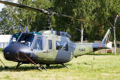 A German Army UH-1D Iroquois (73+60; cn8480), seen at Beauvechain Air Base, during the spottersday for the THPU-exercise (Tactical Helicopter Procedures Update).