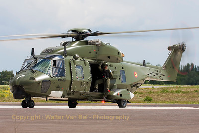 Belgian Air Force NHI NH-90 TTH (RN-08; cn1305/TBEA04), seen here taxiing out from the NH-90 ramp at Beauvechain Air Base, during the spottersday for the THPU-exercise (Tactical Helicopter Procedures Update).