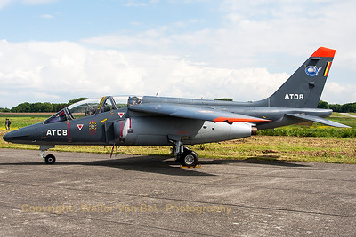 Belgian Air Force Alpha Jet 1B (AT08; cnB08/1024), at Beauvechain Air Base, during the spottersday for the THPU-exercise (Tactical Helicopter Procedures Update).