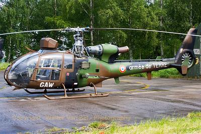 A French Army SA-342M Gazelle (3996; cn1996; GAW) parked in front of a shelter at Beauvechain Air Base, during the spottersday for the THPU-exercise (Tactical Helicopter Procedures Update).