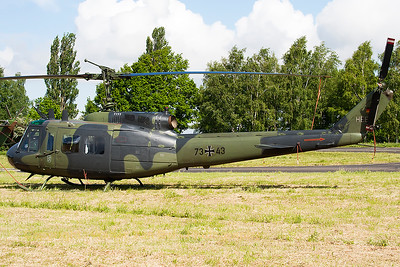 A German Army UH-1D Iroquois (73+43; cn 8463), seen at Beauvechain Air Base, during the spottersday for the THPU-exercise (Tactical Helicopter Procedures Update).