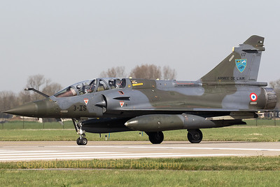"A French Air Force Mirage 2000D (3-IS; 617; cn415), from EC1/3 at Nancy - Ochey, about to line-up on the RWY24 at Leeuwarden AB, during exercise ""Frisian Flag 2017""."