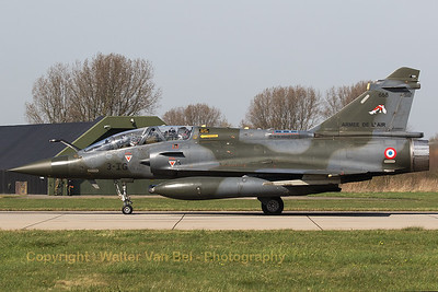 "A French Air Force Mirage 2000D (3-IG; 668; cn542), from EC1/3 ""Gypaète"" at Nancy - Ochey, starting her take-off roll on the RWY24 at Leeuwarden AB, during exercise ""Frisian Flag 2017""."