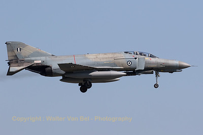Hellenic Air Force F-4E AUP Phantom II (01512; cn 4485) on final for RWY08L at Florennes AFB at the end of the morning mission during Tactical Weapons Meet 2017.