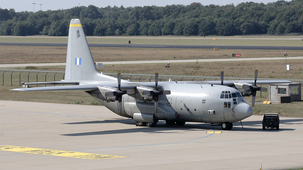 """A Hellenic Air Force C-130H Hercules (741; cn382-4622), from 356 MTM at Elefsis, was present at Eindhoven Air Base during exercise """"Falcon Leap""""."""