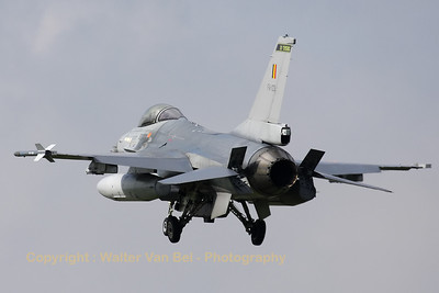 Belgian Air Force F-16AM (FA-133) recovering to Leeuwarden AFB, after another mission during Frisian Flag 2012.