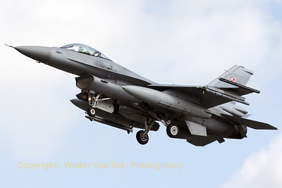 Polish Air Force F-16C (4069) recovering to Leeuwarden AFB, after another mission during Frisian Flag 2012.