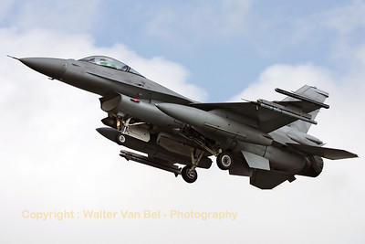 Polish Air Force F-16C (4066) recovering to Leeuwarden AFB, after another mission during Frisian Flag 2012.