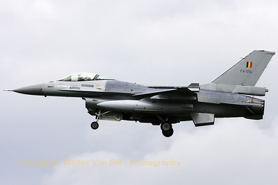 Belgian Air Force F-16AM (FA-126/6H-126) - from 2Wing at Florennes - recovering to Leeuwarden AFB, after another mission during Frisian Flag 2012.
