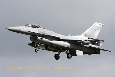 Polish Air Force F-16C (4070/JC-31) recovering to Leeuwarden AFB, after another mission during Frisian Flag 2012.