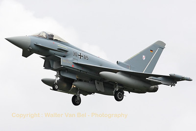 "German Air Force EF-2000 Eurofighter (30+85) - from JBG31 ""Boelcke"" at Nörvenich - recovering to Leeuwarden AFB, after another mission during Frisian Flag 2012."