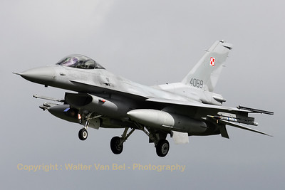 Polish Air Force F-16C (4069/JC-30) recovering to Leeuwarden AFB, after another mission during Frisian Flag 2012.