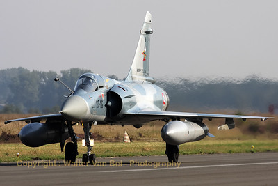 Another Cambrai-based Mirage 2000C returns from a morning mission during the 2009 Nato Tiger Meet at Kleine Brogel AFB.
