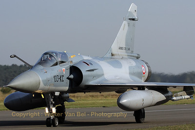 Another Cambrai-based Mirage 2000C, wearing its new code, returns from the morning mission during the 2009 Nato Tiger Meet at Kleine Brogel AFB.