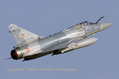 Very loud and impressive take-off by this French Air Force Mirage 2000C from EC1/12, during the Nato Tiger Meet at Kleine Brogel AFB.