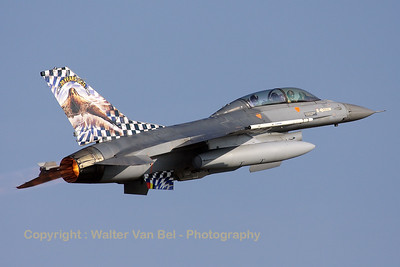KB's OCU-bird (FB-18) performs a blasting take-off during the Nato Tiger Meet 2009.