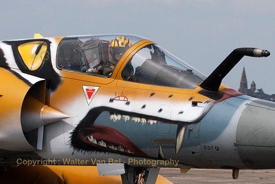 Close-up of a Mont de Marsan based Mirage 2000-5F from ECE 5.330, with special c/s for the 50th Nato Tiger Meet, this year at Cambrai.