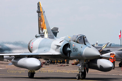 50th Anniversary tiger-marks on the tail of this Mirage 2000C (88/103-KV; cn 340) from EC1/12, based at Cambrai (Nato Tiger Meet 2011).