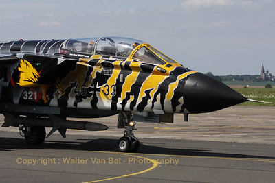 German Air Force Tornado ECR from JBG32, showing its beautiful new c/s during the Nato Tiger Meet 2011 at Cambrai.