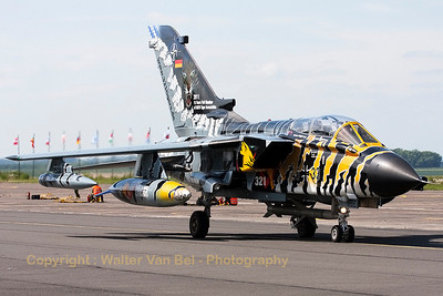 A German Air Force Tornado ECR from JBG32 (46+33; cn:844/GS266/4333), showing its beautiful c/s, during the Nato Tiger Meet 2011 at Cambrai.