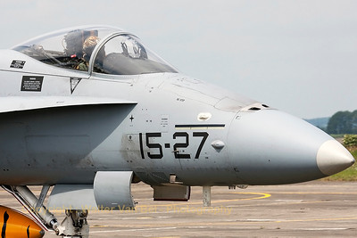 Close-up of the Spanish Air Force EF-18A, during the Nato Tiger Meet 2011 at Cambrai.