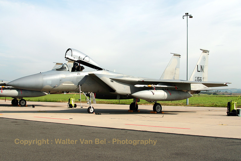 This US Air Force F-15C (86-0156 / LN , cn 1003/C384) is seen at the ramp of Florennes AFB during TLP2006-5, prior to its returnflight home.