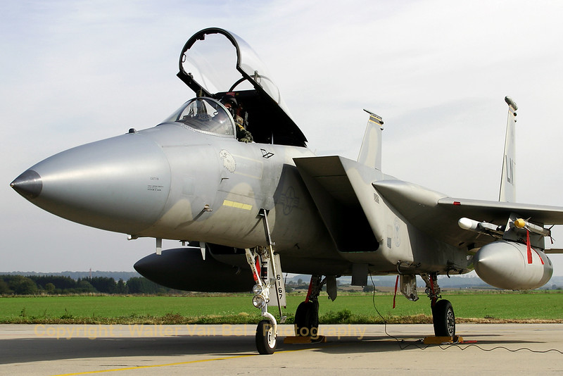 This US Air Force F-15C (86-0167 / LN , cn 1016/C395) is seen at the ramp of Florennes AFB during TLP2006-5.