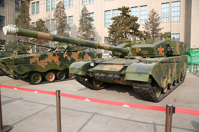 Modern Chinese battle tank outside the Military Museum - 20/01/18.